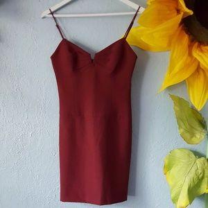 Black Halo red mini dress size 2